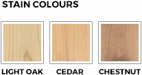 stain colour options for vegetable planter