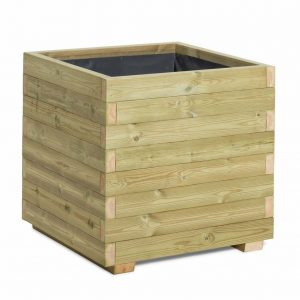 Fully assembled timber planter