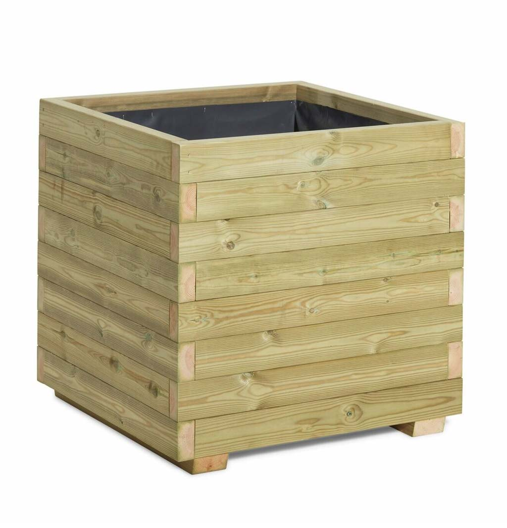 Blok Timber Planter Square Wooden Planters Taylor Made
