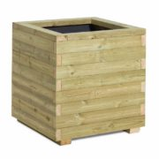 Chunky timber planter with capping rail