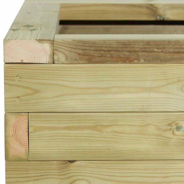 Close up of a timber planter