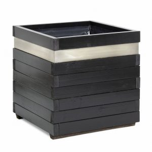 Blok commercial street planter with Stainless Steel