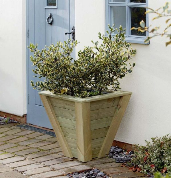 Shrub potted in a custom made planter