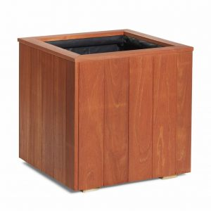 Hardwood outdoor plant container