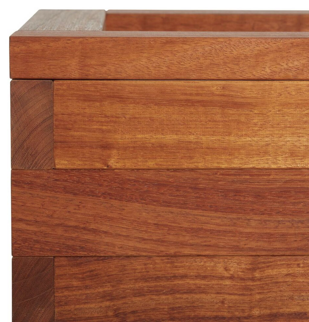 Iroko Blok Planter High Quality Hardwood Taylor Made