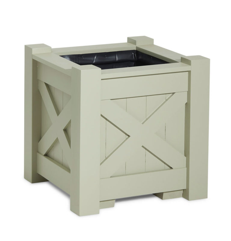 Painted wooden planter in French Grey