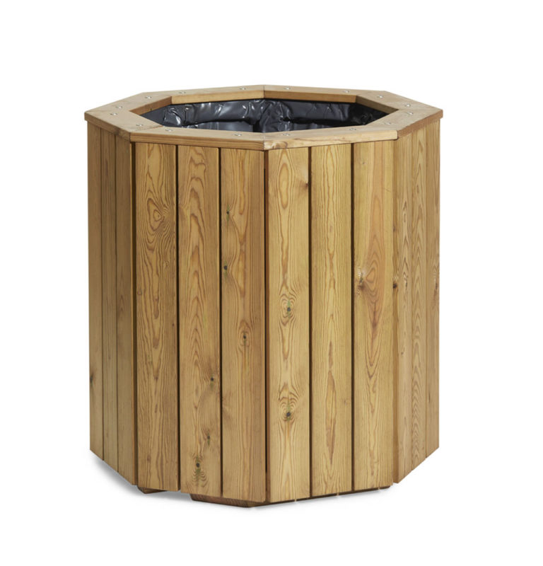 Street planter crafted in wood