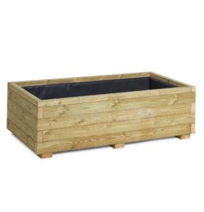 Purpose built wooden vegetable planter