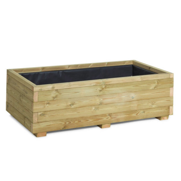 Purpose built wooden vegetable planter