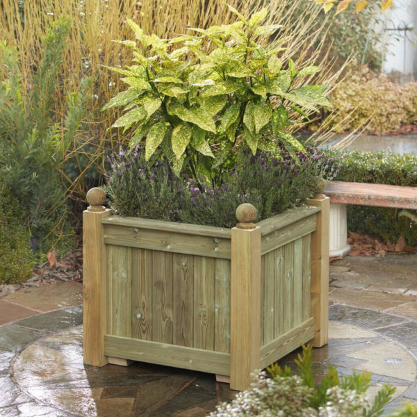 Made To Measure Bespoke Wooden Planters: Square Wooden Planter