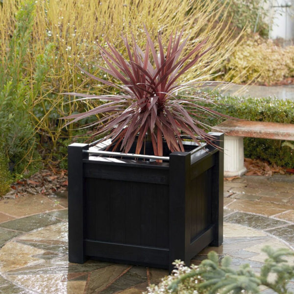 Painted Versailles Wooden Planters Chrome Planters