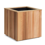 Outdoor container made from Wester Red Cedar