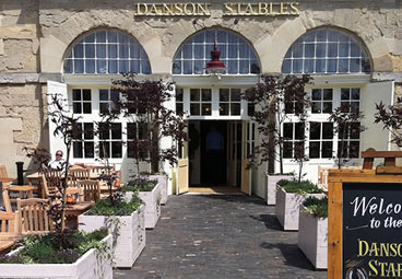 Bespoke restaurant planters for Danson Stables