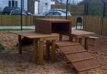 Custom play frames for Dogs Trust