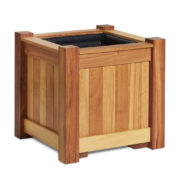 Large garden planter made from Iroko wood