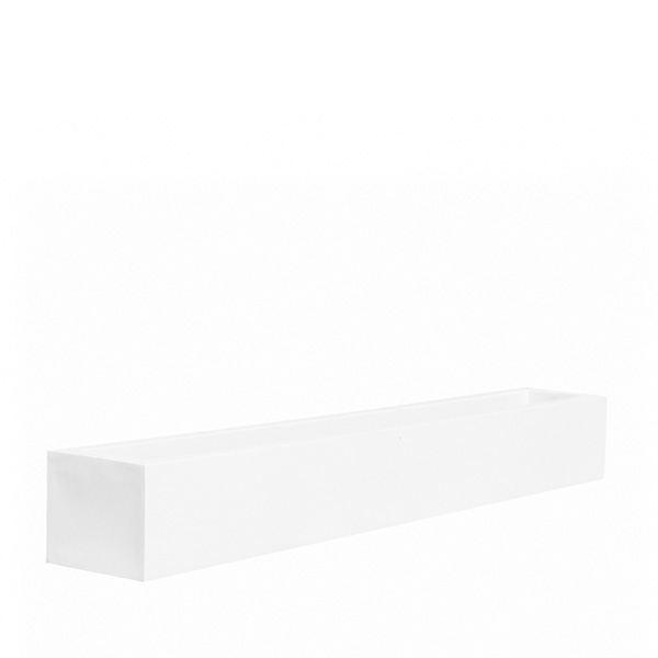 White Fiberstone trough
