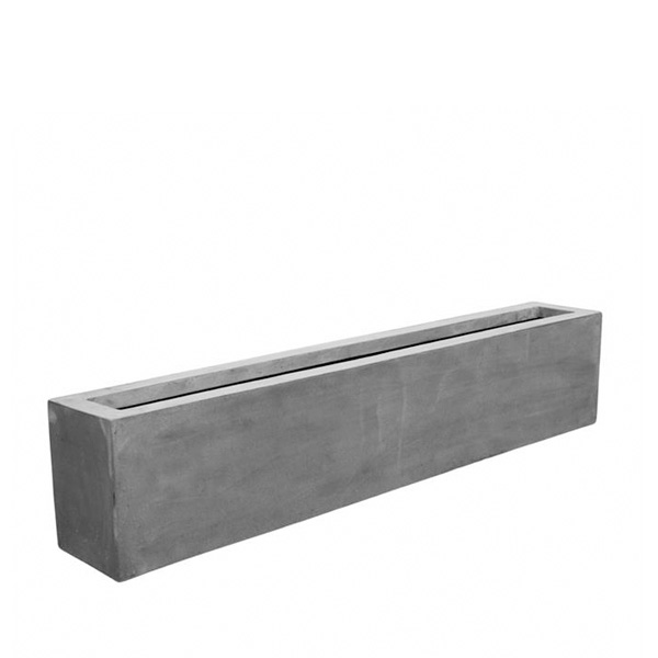 Low trough made from grey Fiberstone