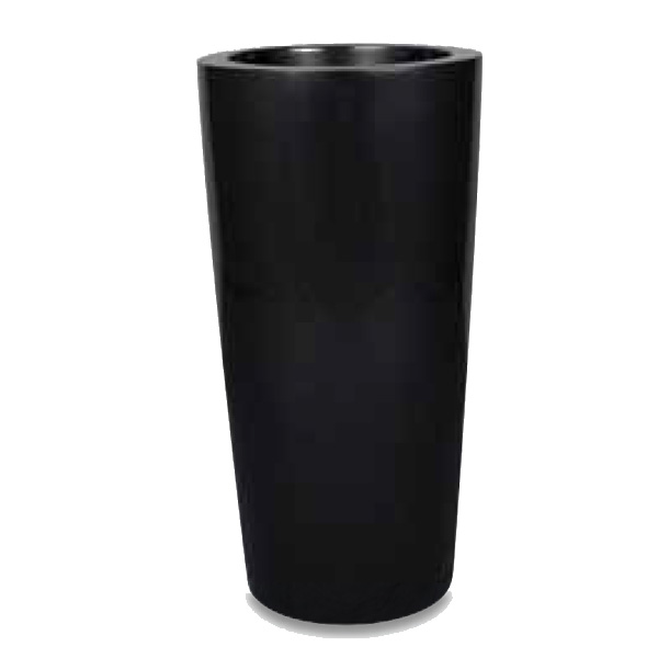 Tall Black Synthetic Planter