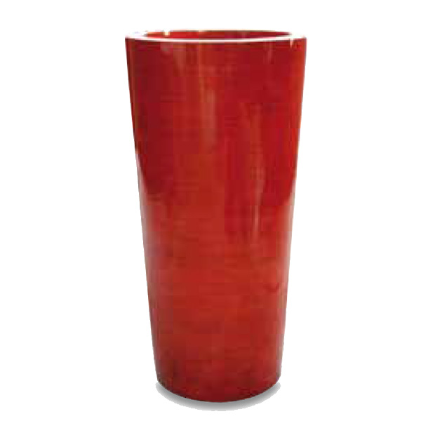 Tall Red Ceramic Planter