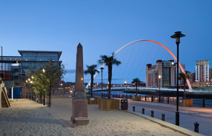 The completed Quayside Seaside in Newcastle