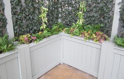 Bespoke exterior planter painted for Waitrose