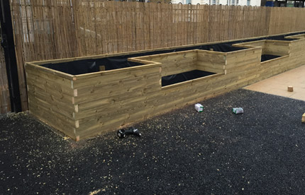Custom planters for a primary school