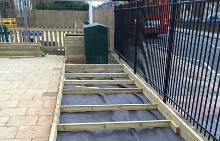 Start of build for bespoke vegetable beds