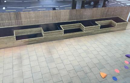 Custom made outdoor planters