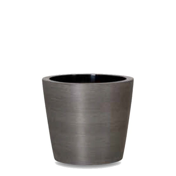 Round garden planter made from Graphite
