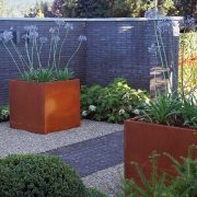 Garden Planters populated with plants
