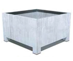 Square Galvanised Planter