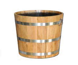 Round Oak Barrel