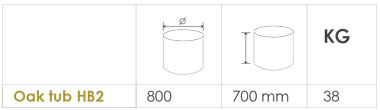 Choose your Oak tub planter size