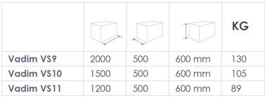 Steel Planters - Vadim sizes
