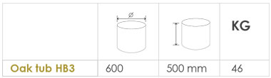 Oak tub planter sizes