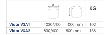 Galvanised Steel planter sizes
