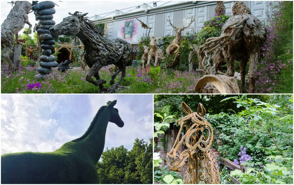 Animal Sculptures at Chelsea Flower Show 2017