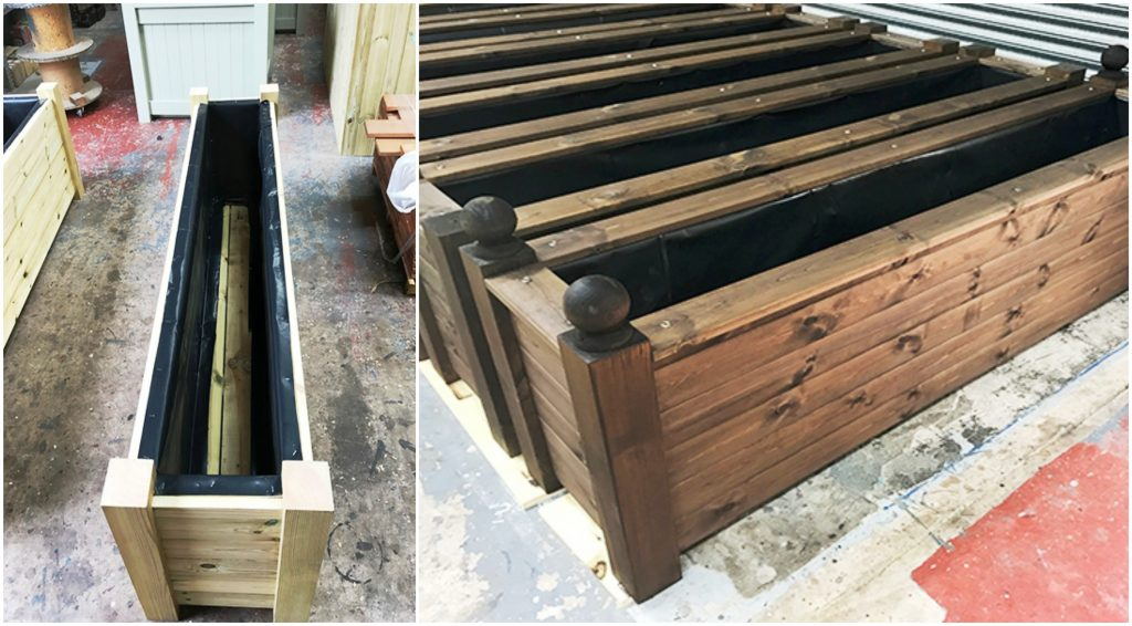 Steps to building a timber planter