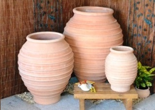 Terracotta clay plant pots