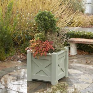 Kensington Timber Planter painted in French Grey