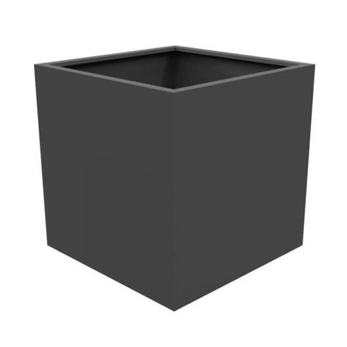 Large, cube planter made from thick Aluminium