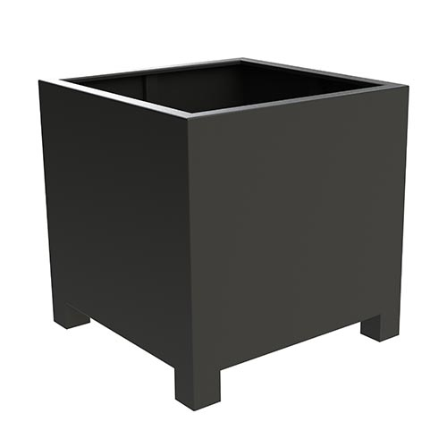 Square planter with feet made from Aluminium