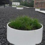 Large round planter in White Fibreglass