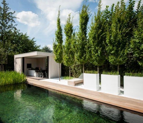 White Fibreglass trough for outdoors