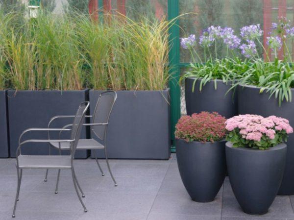 Fobreglass bowls for planting outdoors