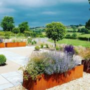 Large Corten Steel Troughs