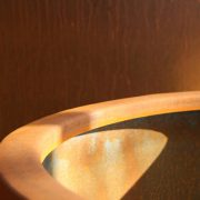Close up of a Corten Steel planter
