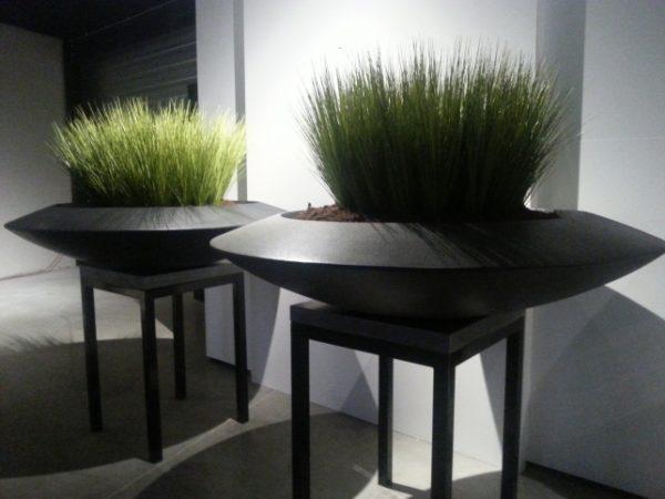 Contemporary Fiberglass planter