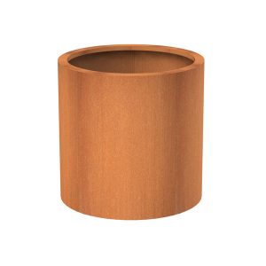 Round plant pot for outdoors