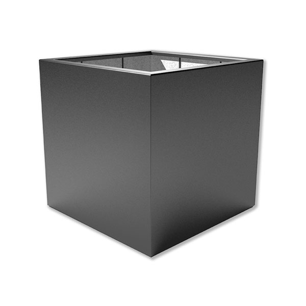 Large outdoor planter in a square shape
